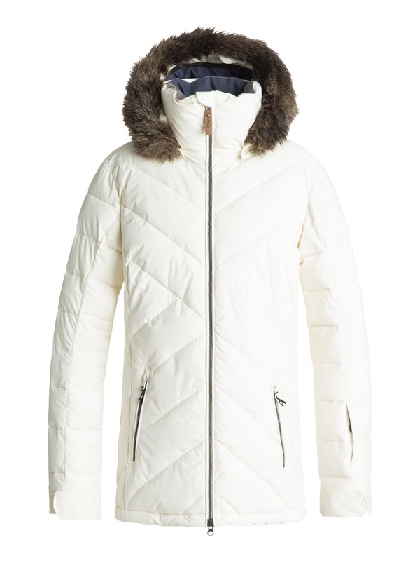 0 Quinn Snow Jacket White ERJTJ03165 Roxy