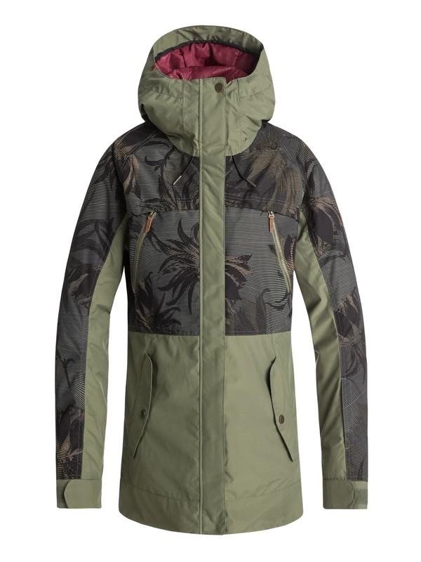 0 Сноубордическая куртка Tribe Зеленый ERJTJ03166 Roxy