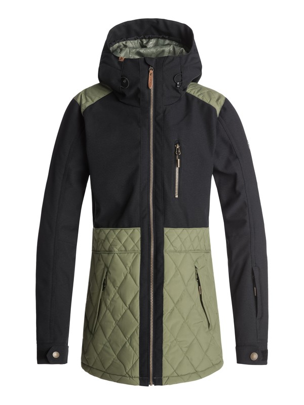 0 Сноубордическая куртка Journey Зеленый ERJTJ03167 Roxy