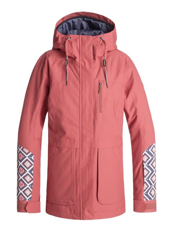 0 Andie - Snow Jacket for Women Pink ERJTJ03168 Roxy