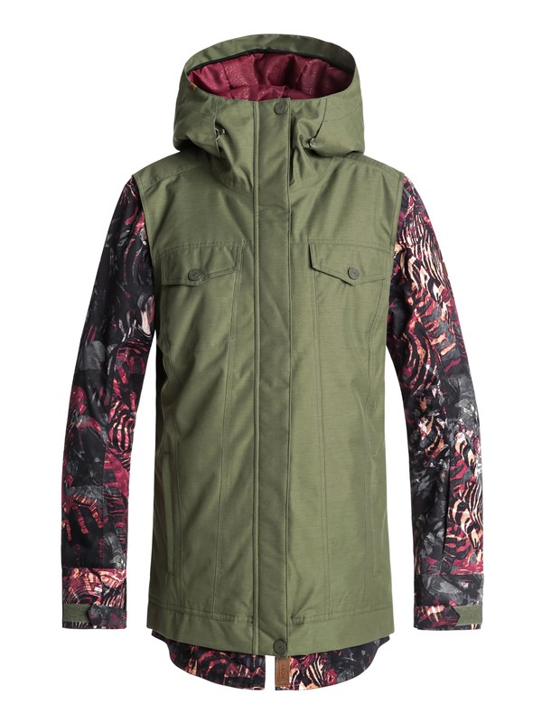 0 Ceder Snow Jacket Green ERJTJ03169 Roxy