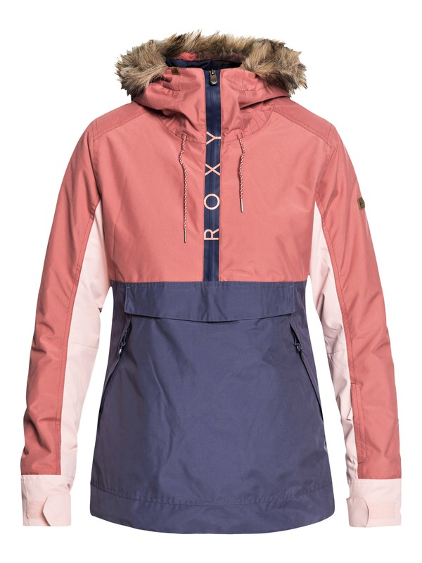 0 Shelter - Anorak Snow Jacket for Women Pink ERJTJ03170 Roxy