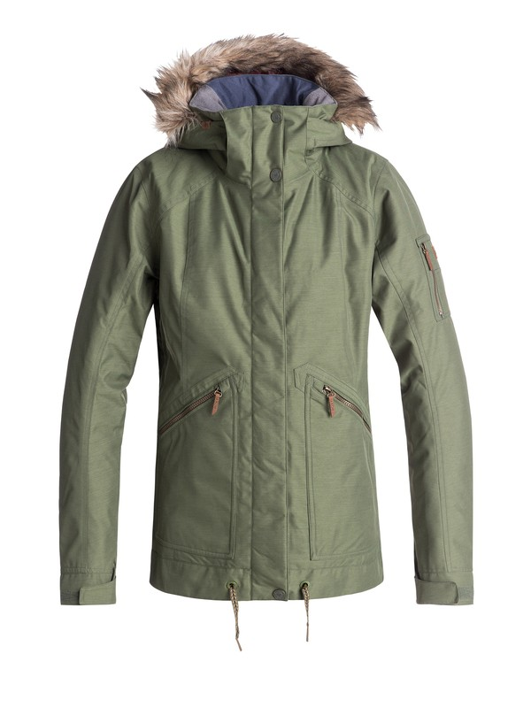 0 Meade Snow Jacket Green ERJTJ03172 Roxy