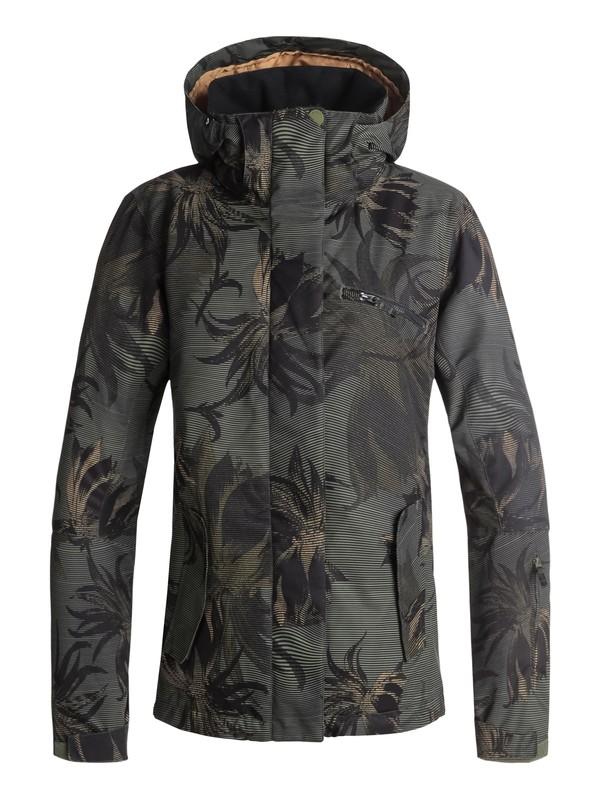 0 Сноубордическая куртка ROXY Jetty Зеленый ERJTJ03175 Roxy