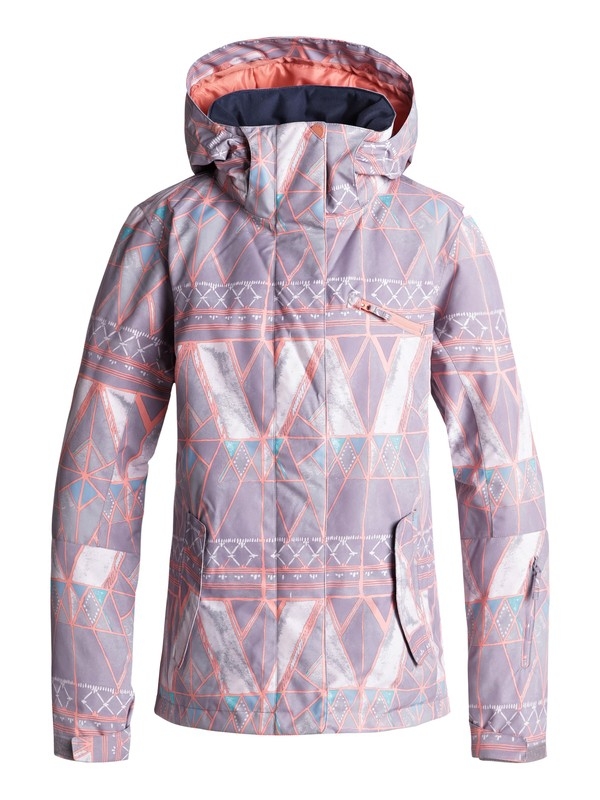 0 ROXY Jetty Snow Jacket Grey ERJTJ03175 Roxy