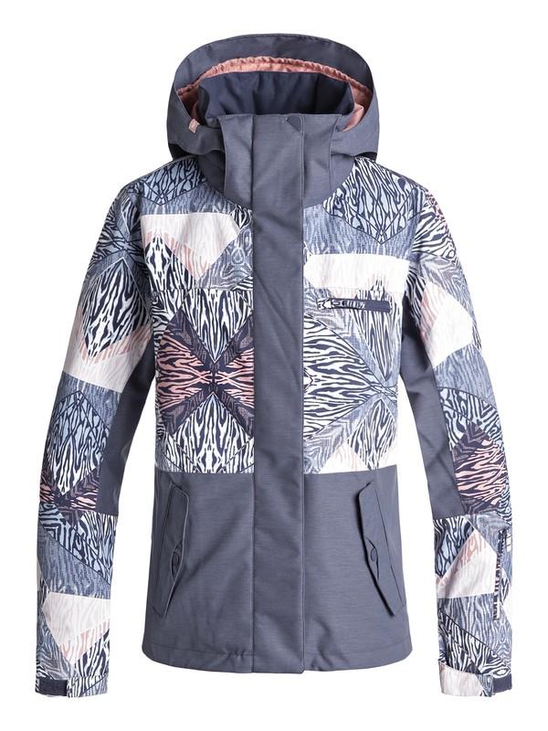 0 Сноубордическая куртка ROXY Jetty Block Синий ERJTJ03176 Roxy