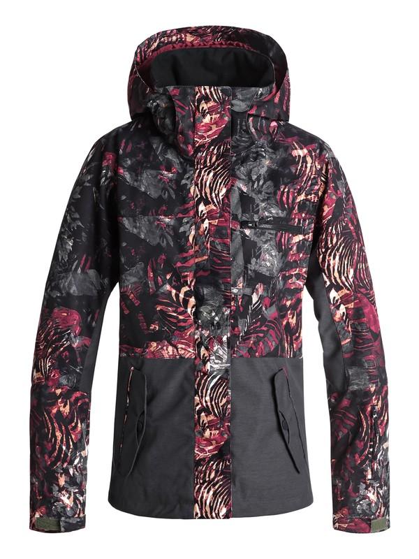 0 Сноубордическая куртка ROXY Jetty Block Зеленый ERJTJ03176 Roxy