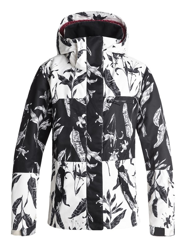 0 ROXY Jetty Block - Snow Jacket for Women Black ERJTJ03176 Roxy
