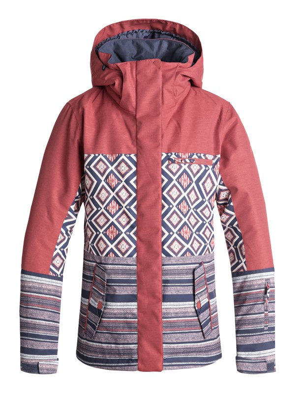 0 ROXY Jetty Block - Veste de snow pour Femme Rose ERJTJ03176 Roxy