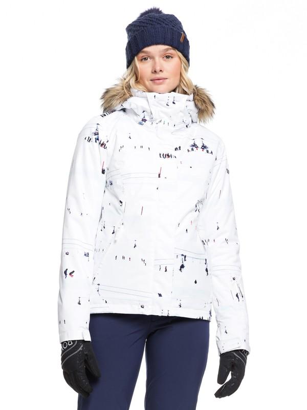 0 Jet Ski Snow Jacket White ERJTJ03205 Roxy