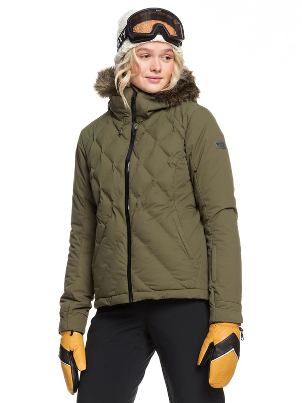 0 Breeze Snow Jacket Brown ERJTJ03211 Roxy