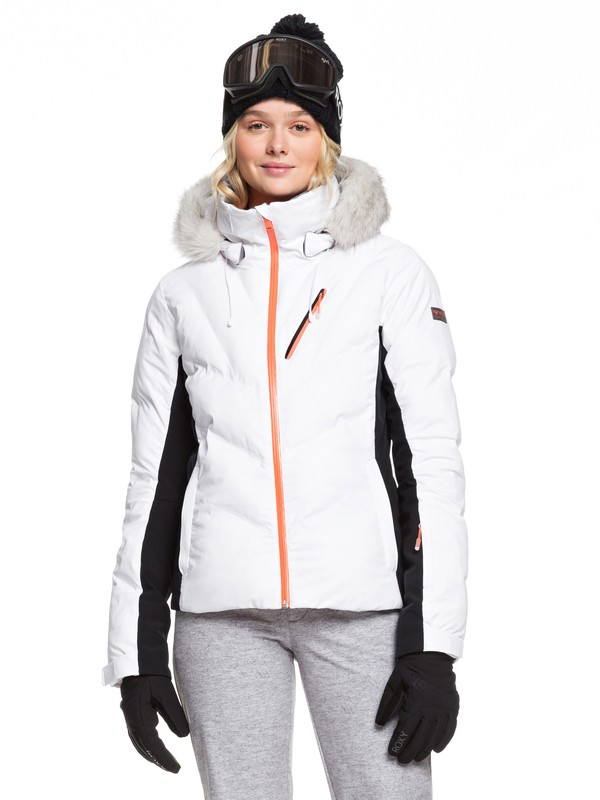 0 Snowstorm Snow Jacket White ERJTJ03212 Roxy