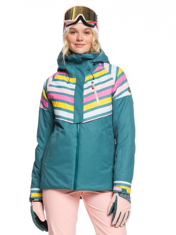 0 Frozen Flow Snow Jacket Blue ERJTJ03219 Roxy