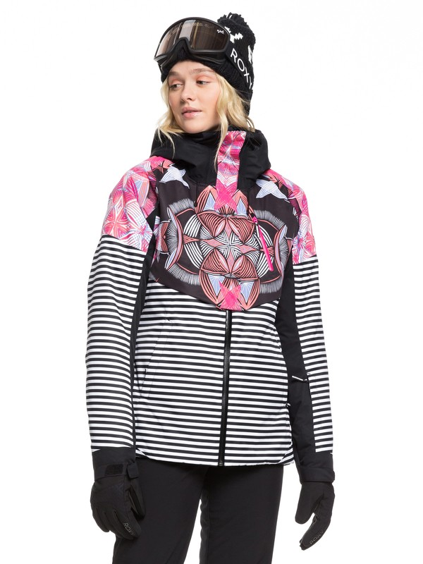0 Frozen Flow Snow Jacket Black ERJTJ03219 Roxy
