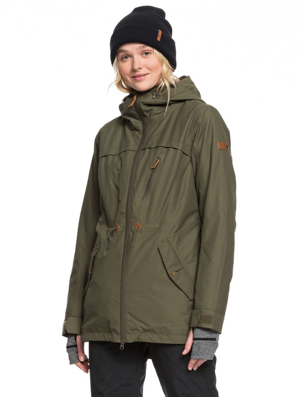 0 Stated Snow Jacket Brown ERJTJ03225 Roxy