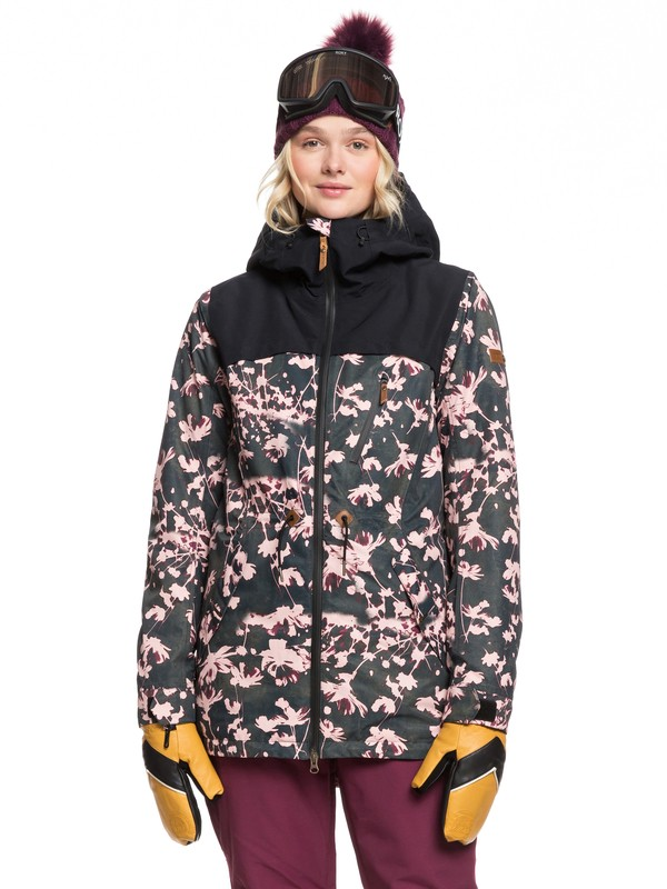 0 Stated Snow Jacket Black ERJTJ03225 Roxy