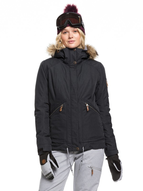 0 Meade Snow Jacket Black ERJTJ03229 Roxy