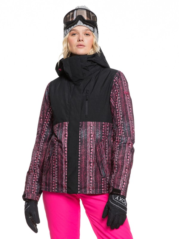 0 ROXY Jetty Snow Jacket Black ERJTJ03232 Roxy