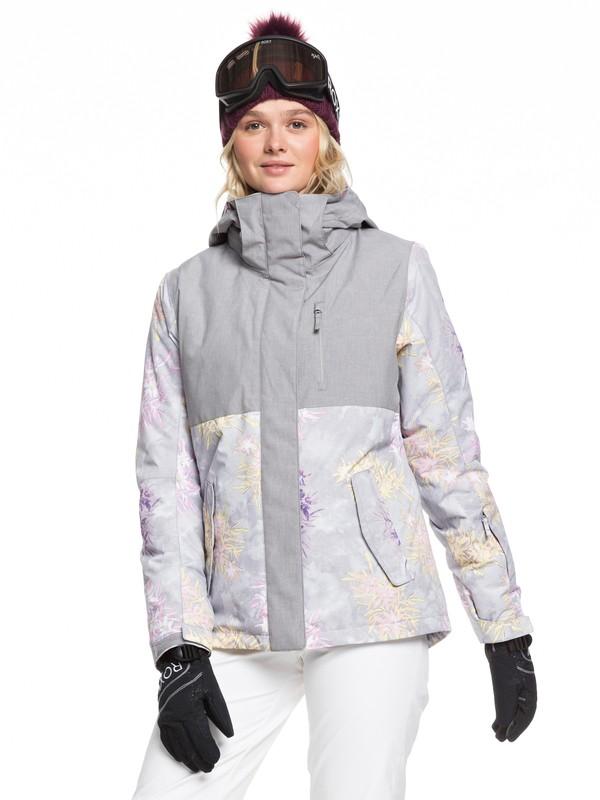 0 ROXY Jetty Snow Jacket Grey ERJTJ03232 Roxy