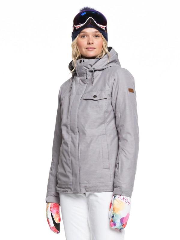 0 Billie Snow Jacket Grey ERJTJ03235 Roxy