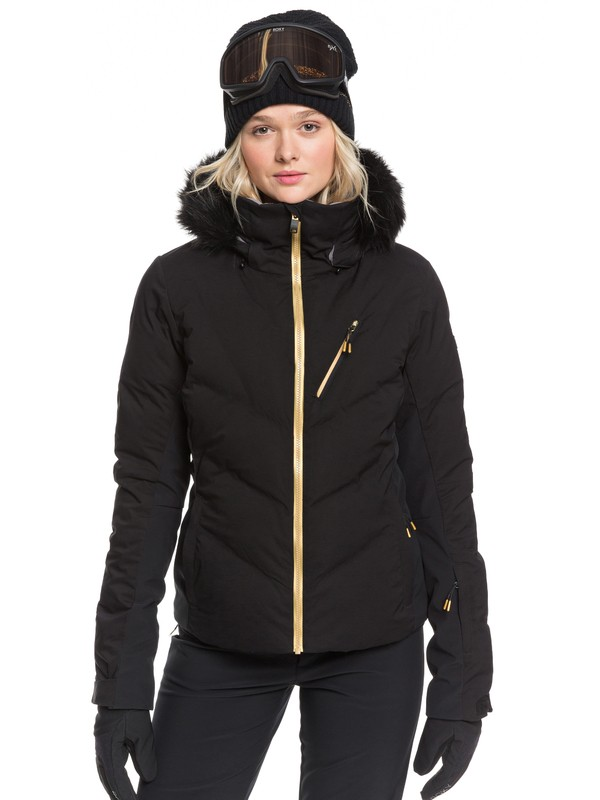 0 Snowstorm Plus Snow Jacket Black ERJTJ03240 Roxy