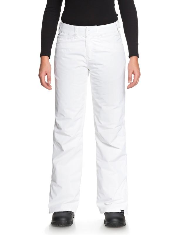 0 Backyard Snow Pants White ERJTP03056 Roxy