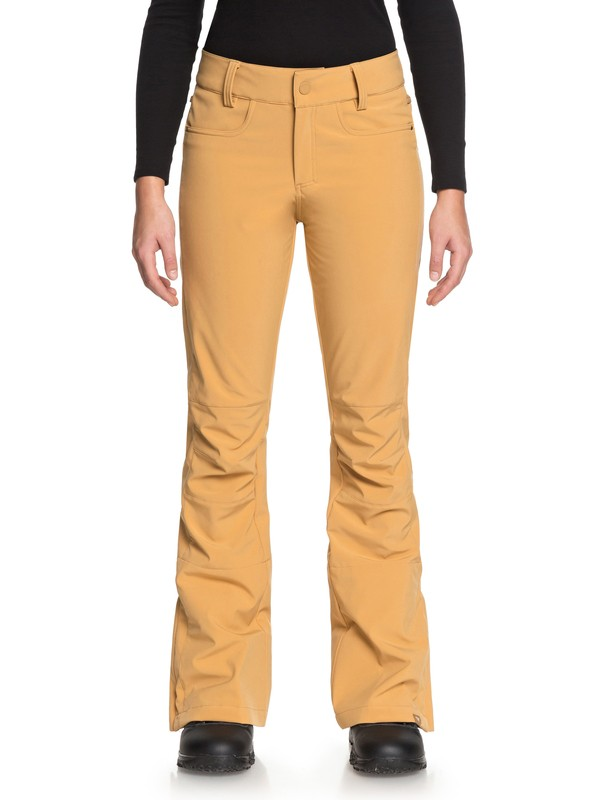0 Creek - Shell Snow Pants for Women Brown ERJTP03060 Roxy