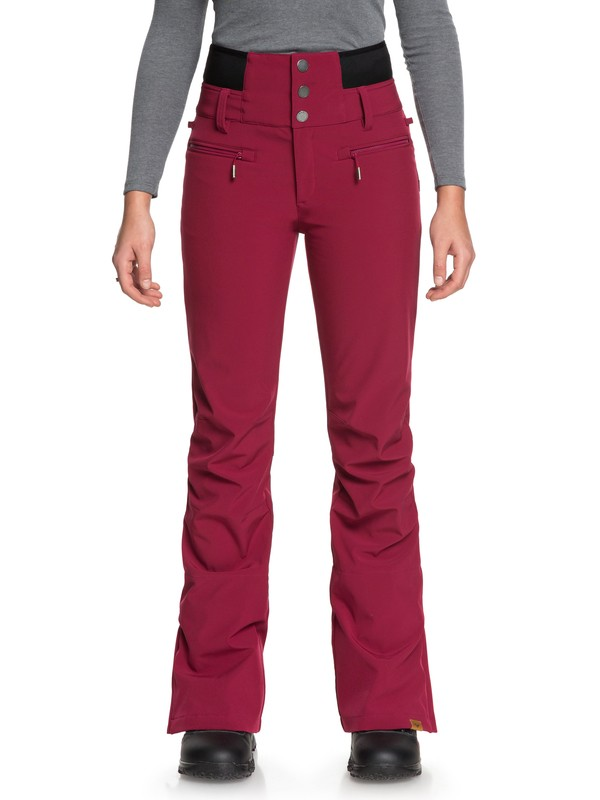 0 Rising High Snow Pants Red ERJTP03067 Roxy