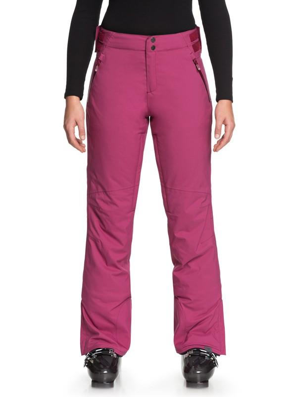 0 Down The Line - Pantalon de snow pour Femme Rouge ERJTP03069 Roxy