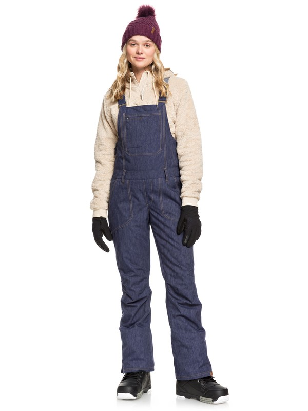 0 Rideout Snow Bib Pants Blue ERJTP03084 Roxy