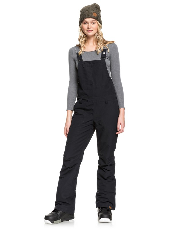 0 Rideout Snow Bib Pants Black ERJTP03084 Roxy