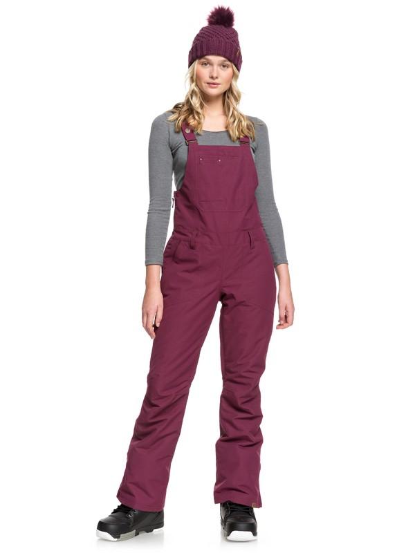 0 Rideout Snow Bib Pants Purple ERJTP03084 Roxy