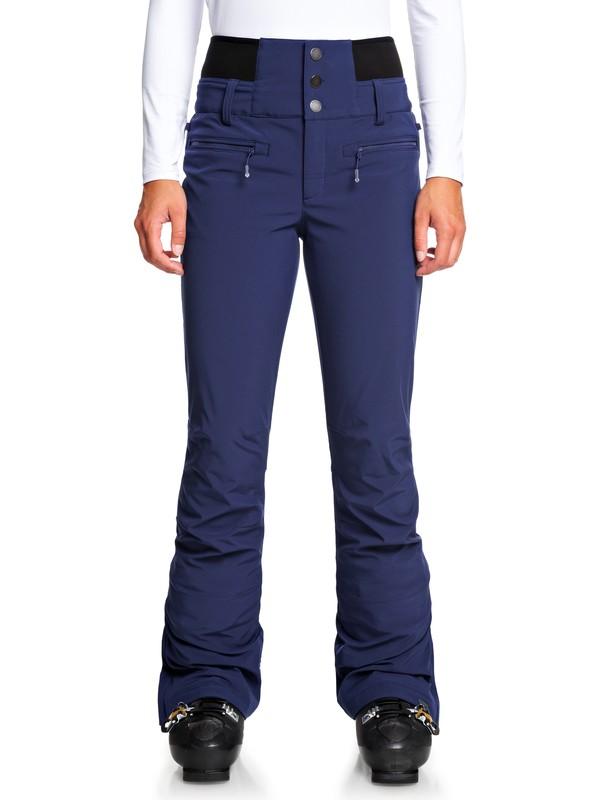 0 Rising High High Waist Snow Pants Blue ERJTP03085 Roxy