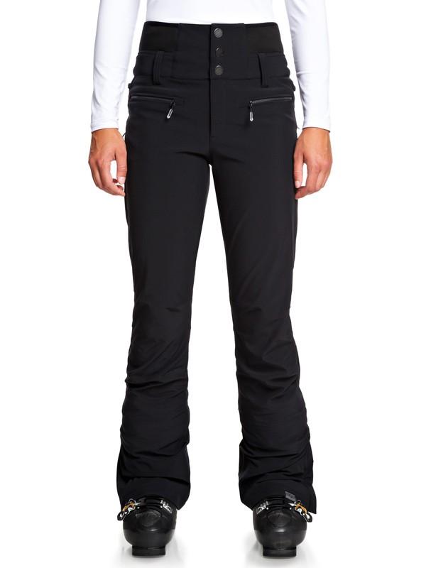 0 Rising High High Waist Snow Pants Black ERJTP03085 Roxy