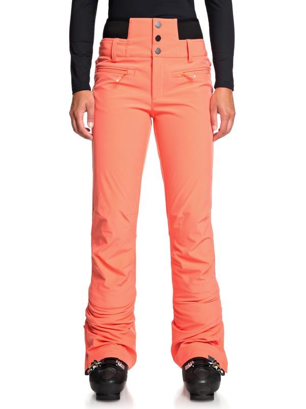 0 Rising High High Waist Snow Pants Pink ERJTP03085 Roxy