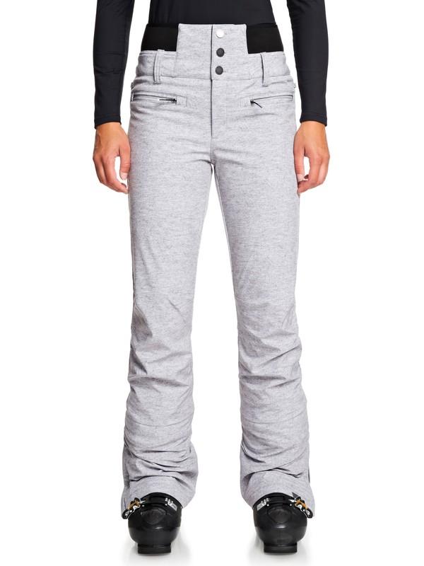 0 Rising High High Waist Snow Pants Grey ERJTP03085 Roxy