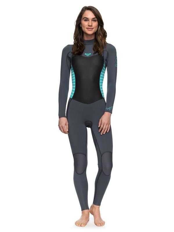 0 3/2mm Syncro Series - Traje de surf GBS con cremallera trasera para Mujer Azul ERJW103024 Roxy
