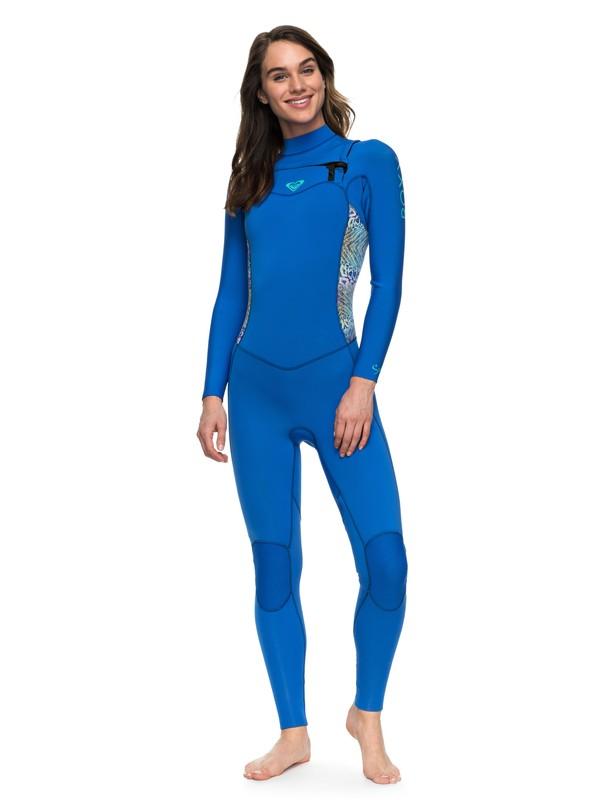 0 3/2mm Syncro Series - Traje de surf GBS con cremallera en el pecho para Mujer Azul ERJW103025 Roxy
