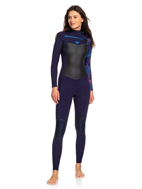 0 4/3mm Syncro Plus - Combinaison de surf zip poitrine pour Femme Bleu ERJW103030 Roxy