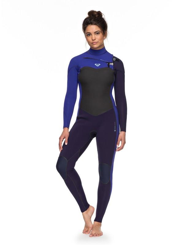 0 3/2mm Performance - Traje de surf con cremallera en el pecho para Mujer Azul ERJW103031 Roxy