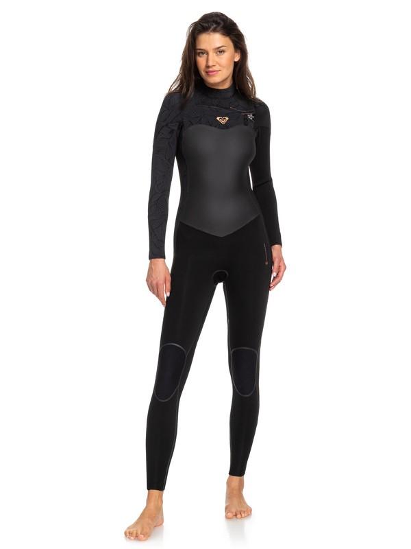0 4/3mm Performance Chest Zip Wetsuit Black ERJW103032 Roxy
