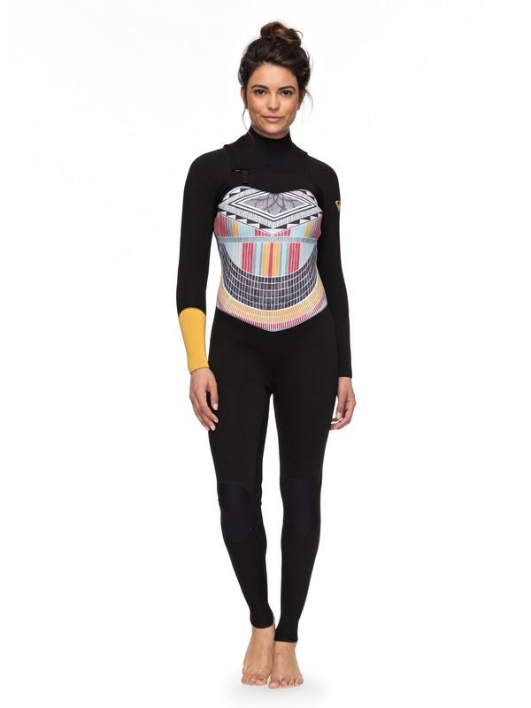 0 3/2mm POP Surf - Chest Zip Wetsuit for Women Black ERJW103036 Roxy