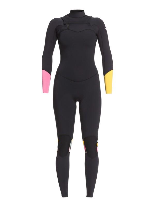 0 3/2mm POP Surf - Combinaison zip poitrine pour Femme Noir ERJW103047 Roxy