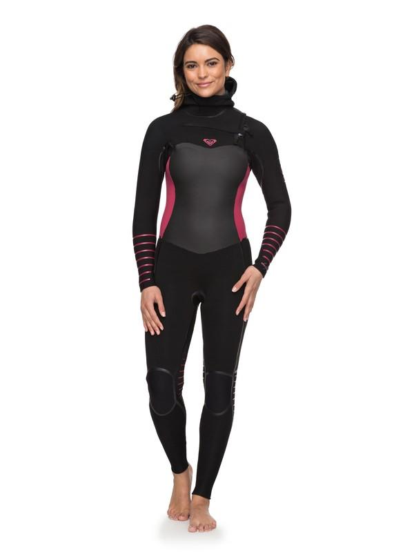 0 5/4/3mm Syncro Plus Hooded Chest Zip Wetsuit  ERJW203002 Roxy