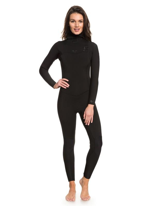 0 5/4/3mm Syncro Series - Traje de Surf GBS con Cremallera en el Pecho y Capucha para Mujer Negro ERJW203004 Roxy