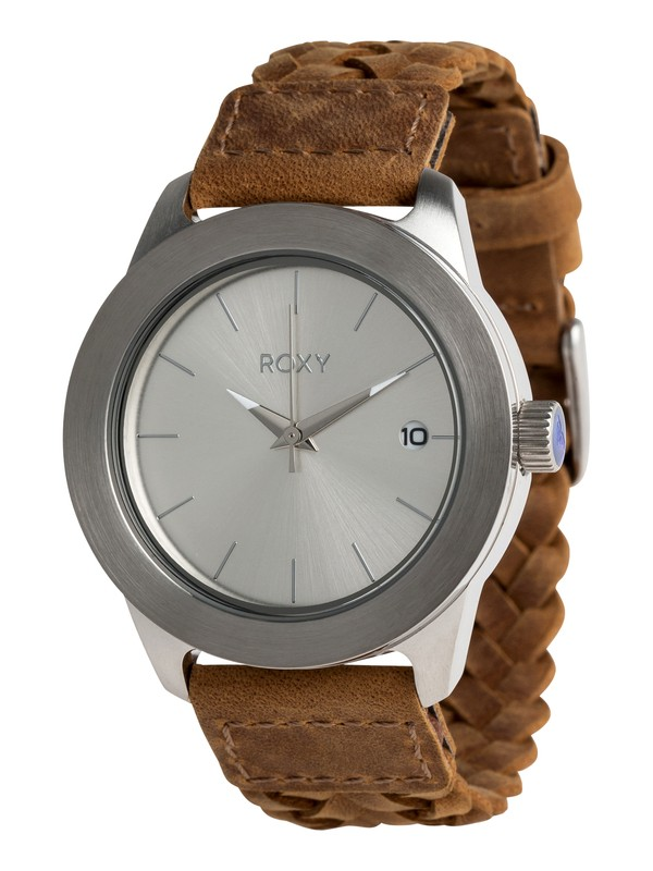 0 Kai Leather Analog Watch Grey ERJWA03009 Roxy