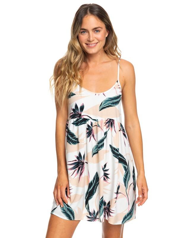0 Tropical Sundance Strappy Dress White ERJWD03194 Roxy