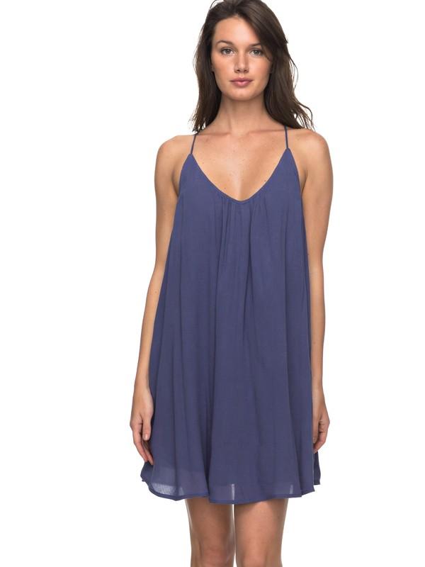 0 Great Intentions - Vestito Allacciato Blue ERJWD03195 Roxy