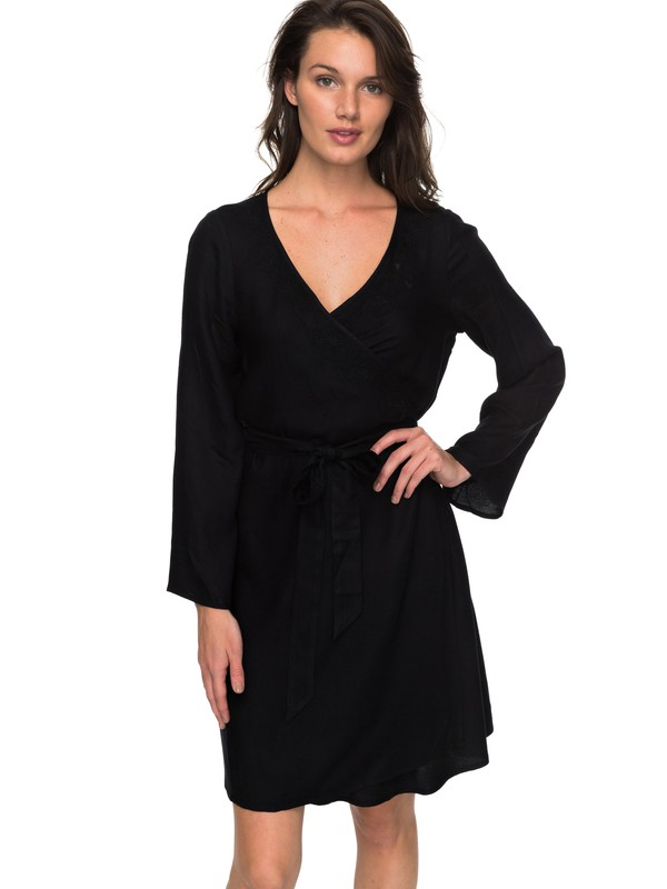 0 Small Hours - Robe portefeuille pour Femme Noir ERJWD03213 Roxy