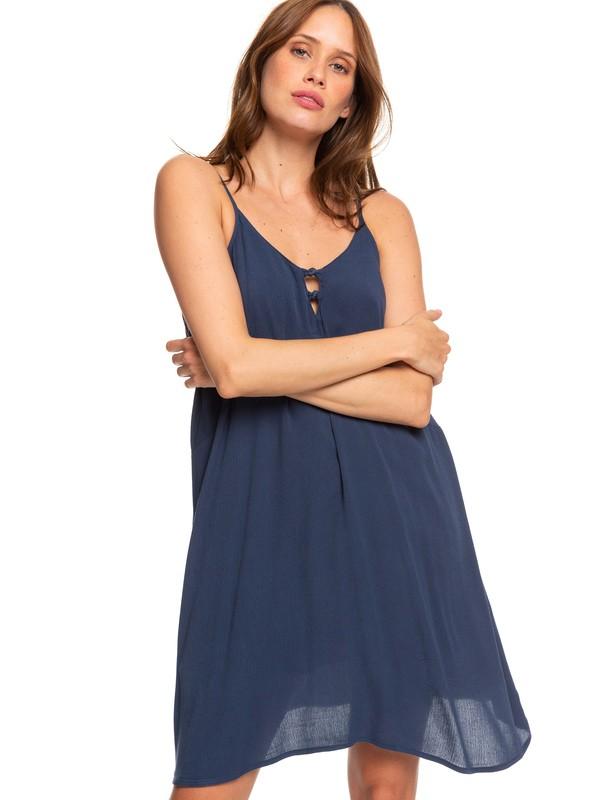 0 Full Bloom Strappy Dress Blue ERJWD03246 Roxy
